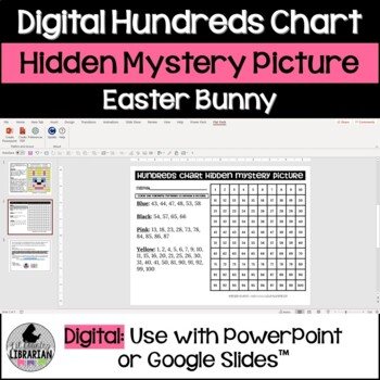 Easter Bunny Hundreds Chart Hidden Picture Activity for Math