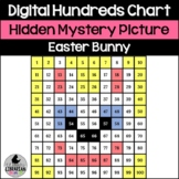 Digital Easter Bunny Hundreds Chart Hidden Picture Activity for Math