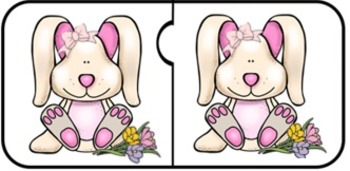 Easter Bunny Jigsaw Puzzle Match/Visual Discrimination & More