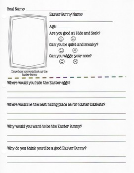Easter Bunny Job Application
