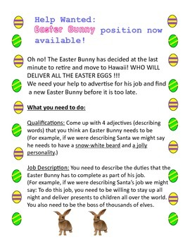 Easter Bunny Job Posting