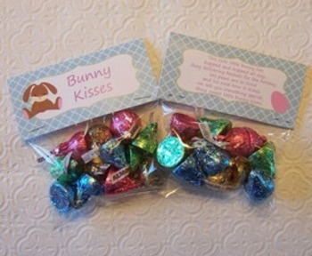 Easter Bunny Kisses Treat Bag Toppers