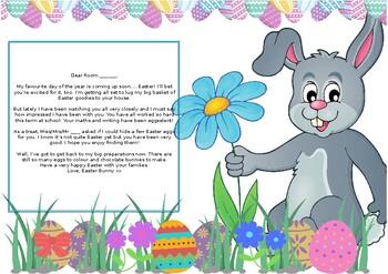 Easter Bunny Letter - Editable