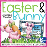 Easter & Bunny Listening Center with SafeShare QR Codes & Links
