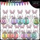 Easter Bunny Math - Clip Art & B&W Bundle 1 (4 Sets)