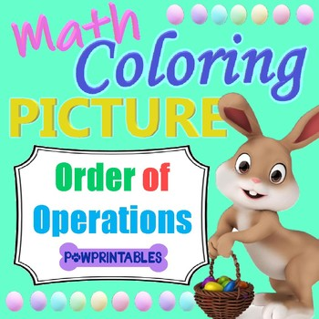 Easter Bunny Math Coloring Picture - Order of Operations