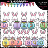 Easter Bunny Math Numbers (0-10) - Clip Art & B&W Set