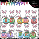 Easter Bunny Math Numbers (11-20) - Clip Art & B&W Set