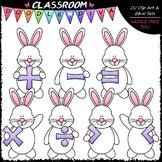 Easter Bunny Math Symbols - Clip Art & B&W Set