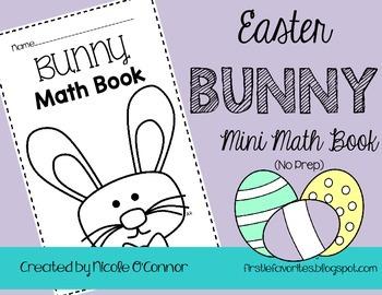 Easter Bunny Mini Math Book (No Prep)