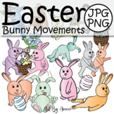 Easter Bunny Movements - Health and Physical Education Active Sports Rabbits