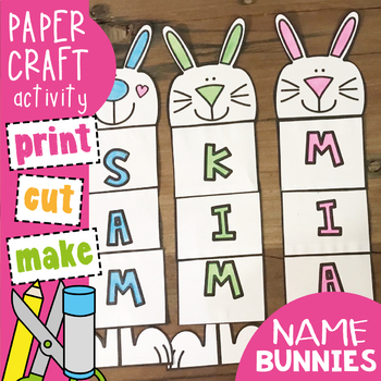 Easter Bunny Name and Word Craft Activity