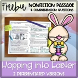Easter Bunny Nonfiction Passage FREEBIE - Distance Learning