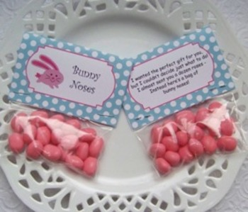 Easter Bunny Noses Mini Treat Bag Toppers