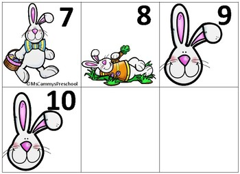 Easter Bunny Number Cards