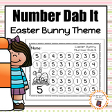Easter Bunny Number Dab It Worksheets 0-25 - S