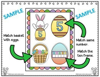 Easter Counting and Number Matching Activity