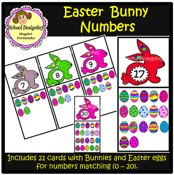 Easter - Bunny Number Matching Cards (School Design)