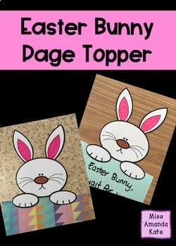 Easter Bunny Page Topper
