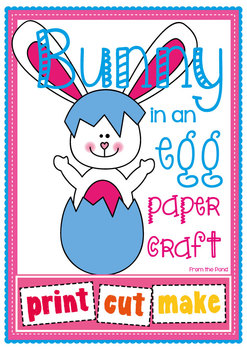 Easter Bunny Paper Craft - Bunny In An Egg