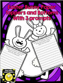 Easter Bunny Paper Toppers and Bottom w/ writing prompts
