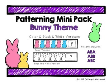 Easter Bunny Patterning Cards