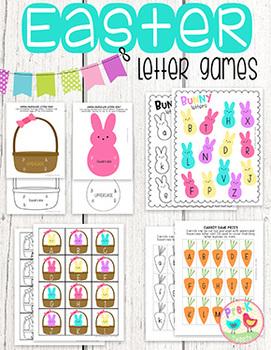 Easter Bunny Letter Games