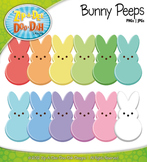 Easter Bunny Peeps Clipart — Includes 12 Bright Graphics!