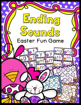 Ending Word Sounds Game - Easter Bunny Themed