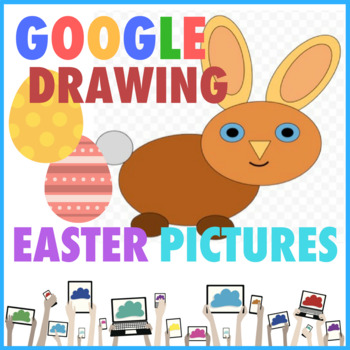 Easter Bunny Pictures using Shapes in Google Drive