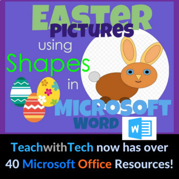 Easter Bunny Pictures using Shapes in Microsoft Word