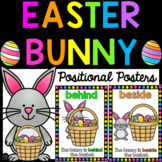 Easter Bunny Positional Language Posters