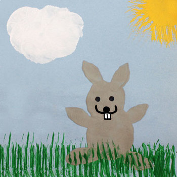 Easter Bunny Potato Print