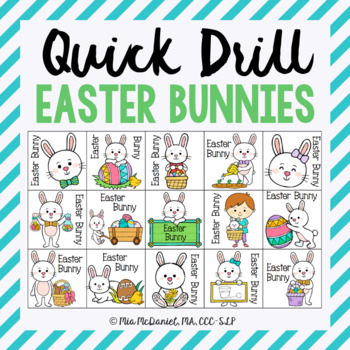 Quick Drill Easter Bunnies {for speech therapy or any skill drill}