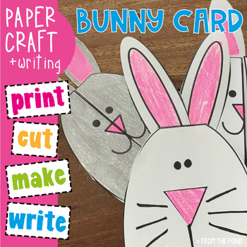 Easter Card - Bunny Rabbit - Easy to Make