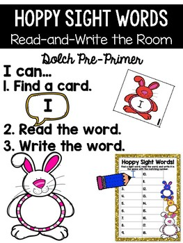 Easter Bunny Read and Write the Room {Kindergarten}