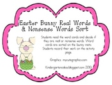 Easter Bunny Real Words & Nonsense Words Sort