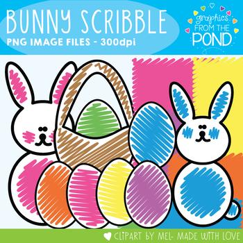 Easter Bunny Scribble