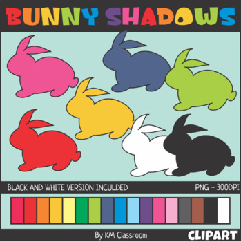 Easter Bunny Shadows Clip Art