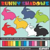 Easter Bunny Shadows Clip Art