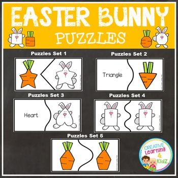 Easter Bunny Shape Puzzles