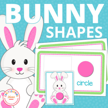 Easter Bunny Shape Sort   Bunny Activities   Spring Activities for Preschool