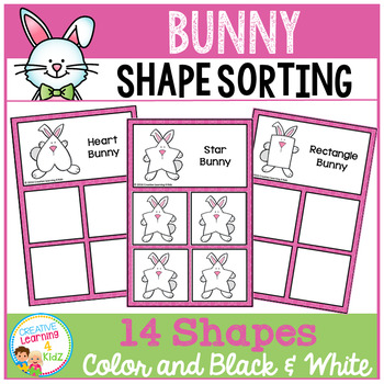 Shape Sorting Mats: Easter Bunny