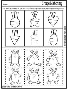 Easter Bunny Shapes and Activities