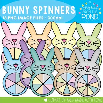 Easter Bunny Spinner Clipart