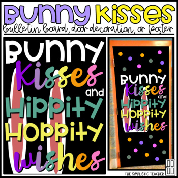 Easter Bunny Spring Bulletin Board, Door Decor or Poster