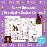 8th Grade Pre Algebra Review Easter Activity Spring Test Prep