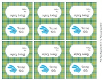 Easter Bunny Tails Mini Treat Bag Toppers