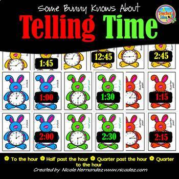 Telling Time to the Hour and Half Hour, Quarter Past and Quarter To the Hour