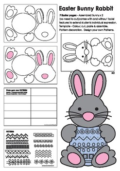 Easter Bunny Templates - Fun Cutouts and Easter Resource Activities